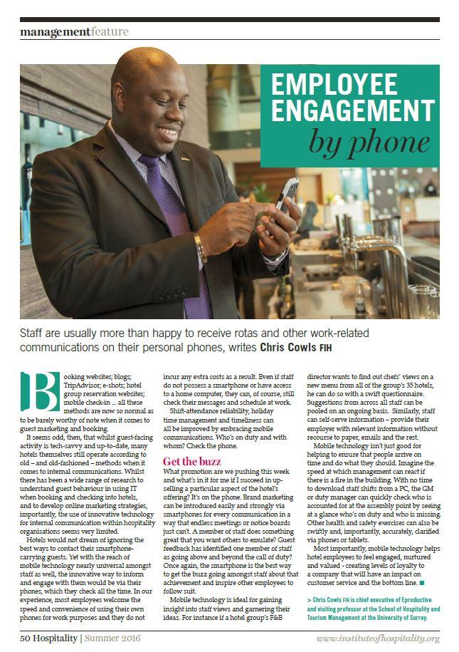 Employee Engagement by phone - Eproductive