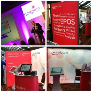 Eproductive talk and stand at Hospice UK